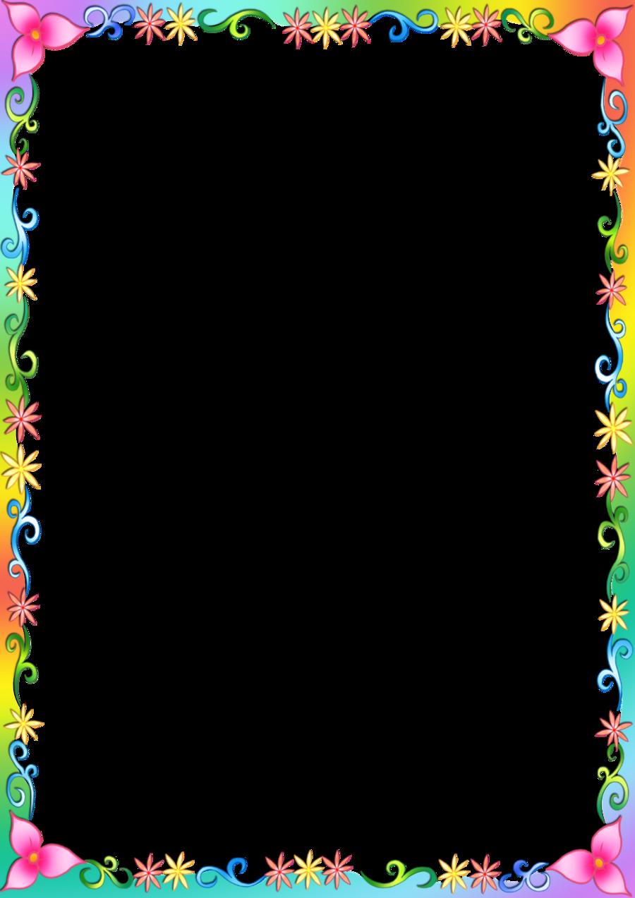 Flower Border Frame clipart.
