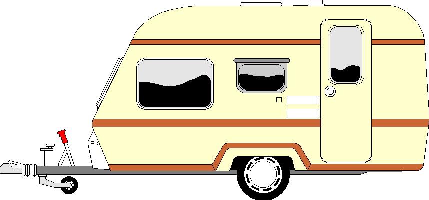 Cartoon Caravan Clipart