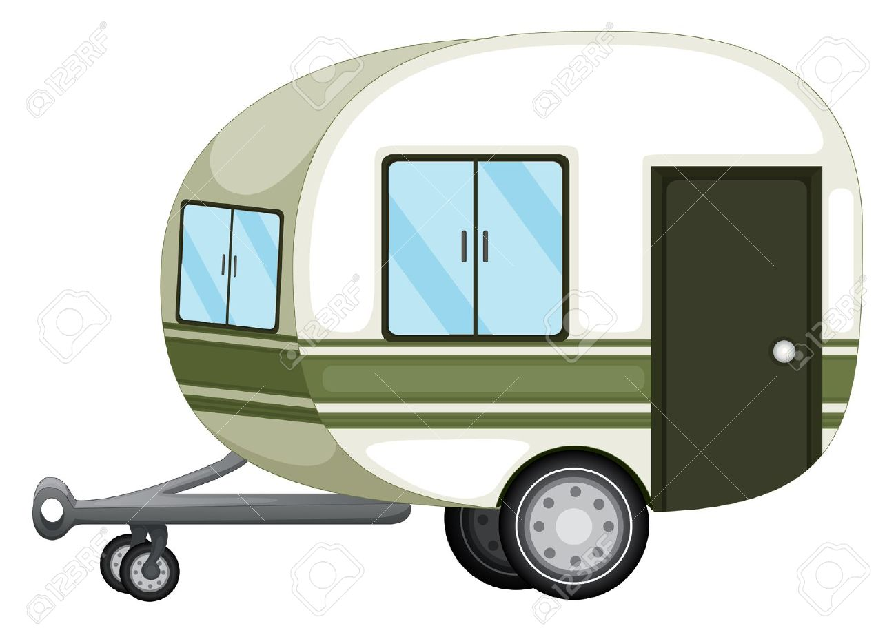 Static caravan clipart.