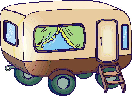 Caravan clipart.