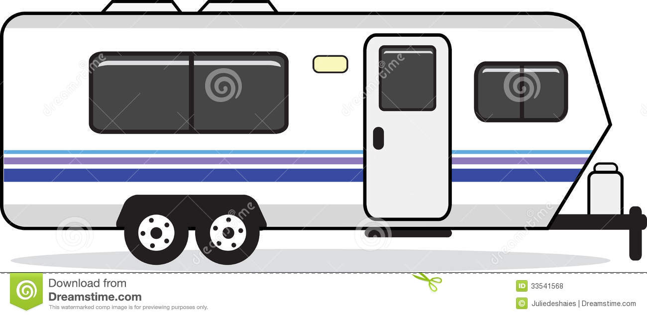 Mobile Home Caravan Stock Illustrations.