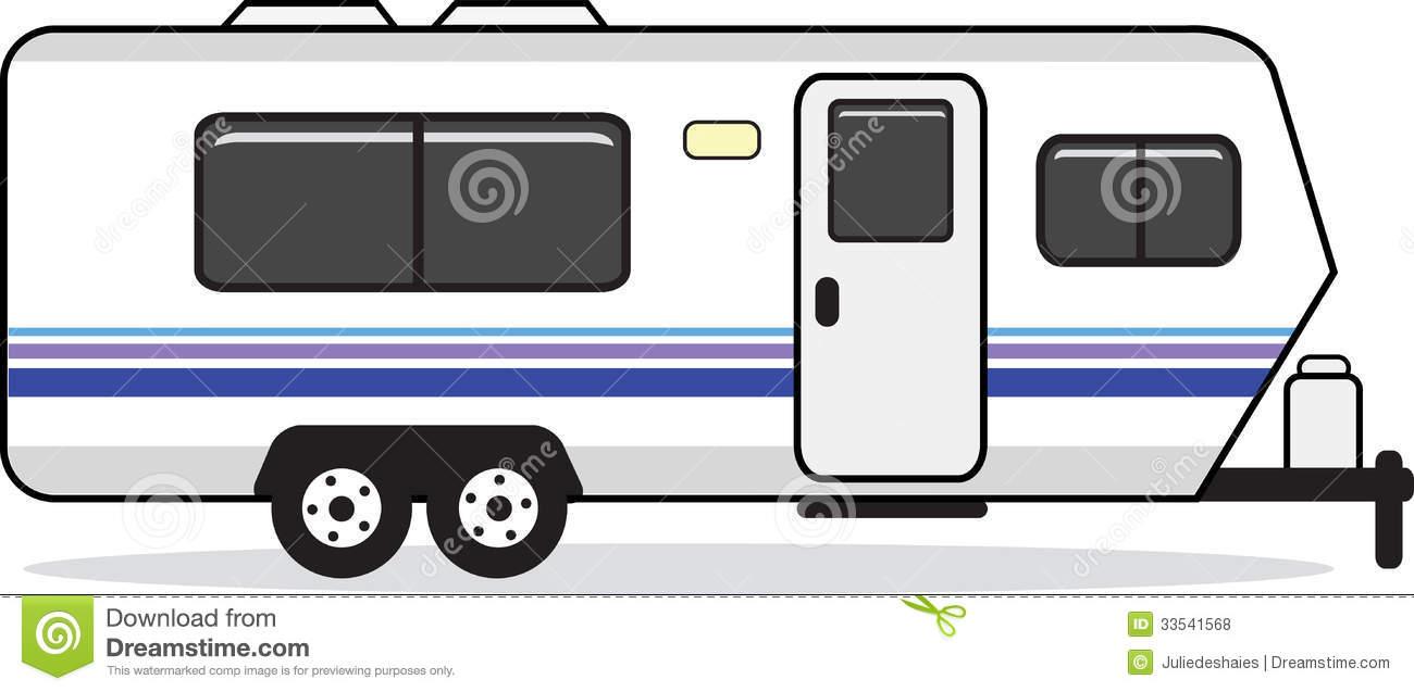 Mobile Home Caravan Stock Illustrations