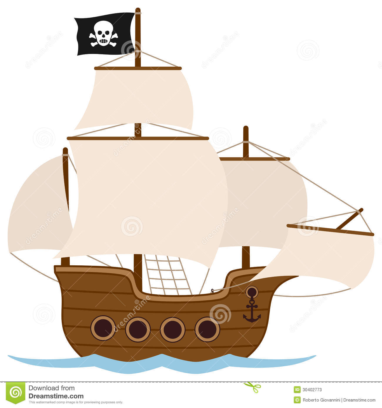 Pirate Sail Clipart.