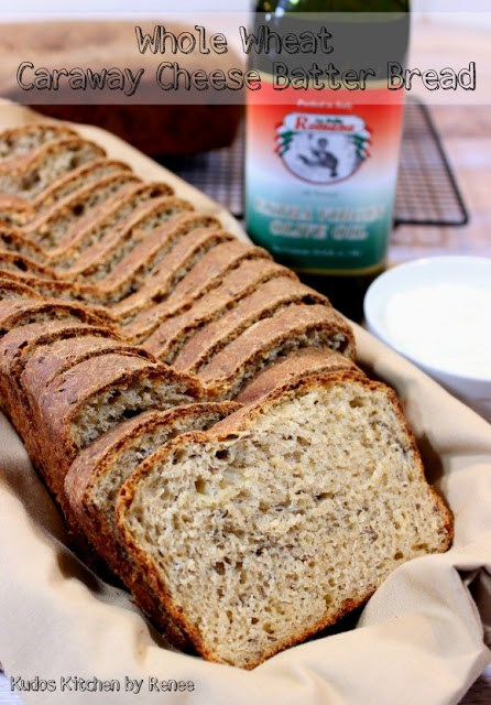 Whole Wheat Caraway Cheese Batter Bread.