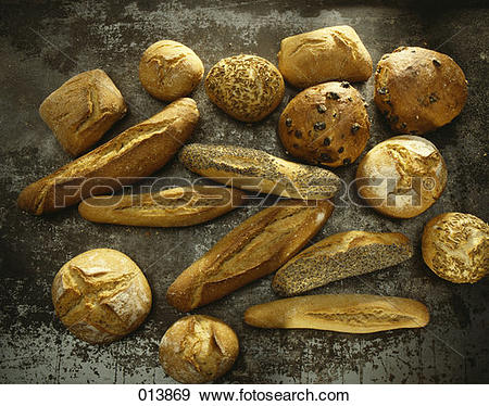 Stock Photograph of poppyseed, caraway, raisin, country and white.