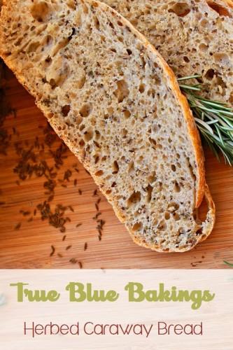 No Knead Herbed Caraway Bread~.