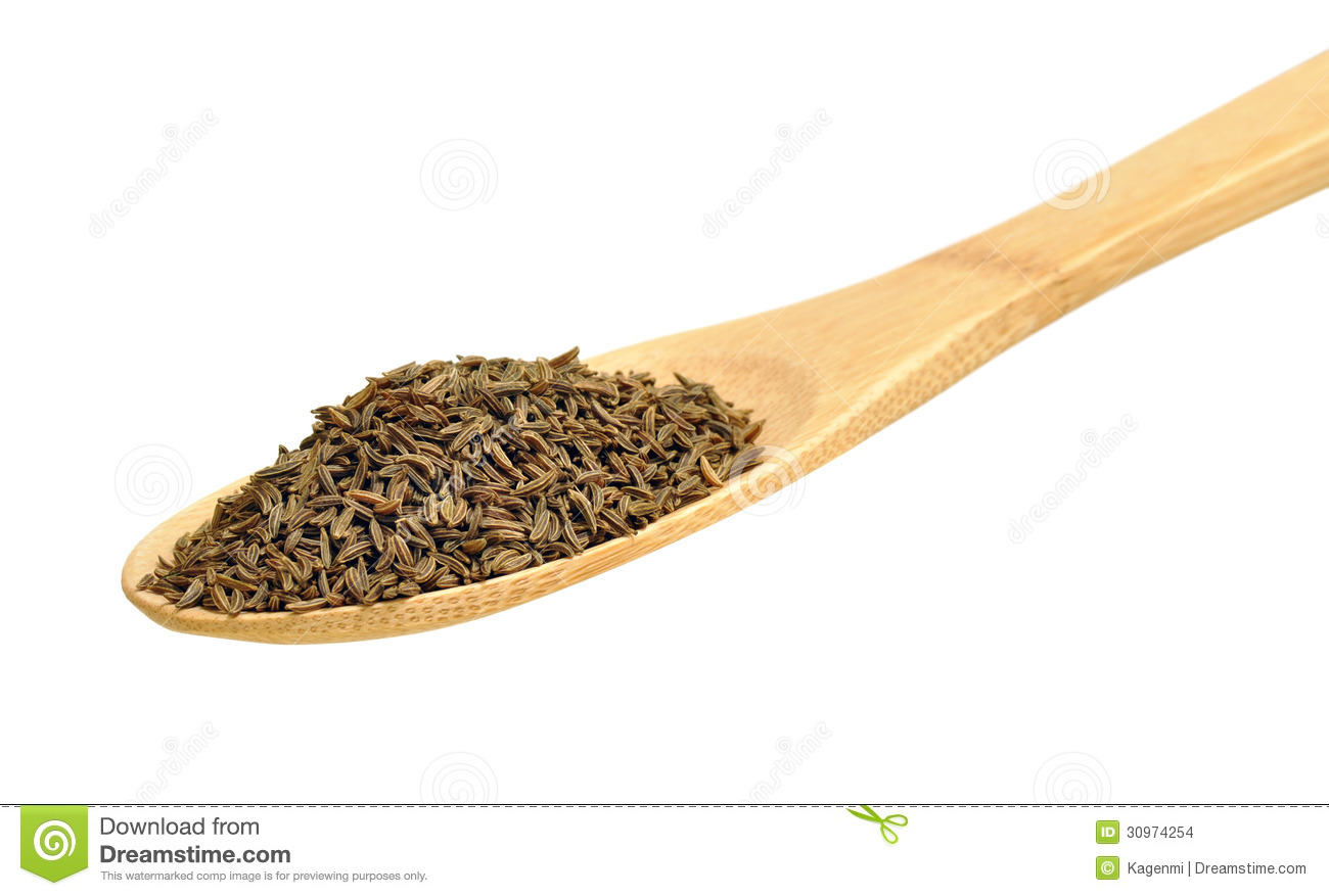 Caraway Seeds For Seasoning, Isolated Stock Images.