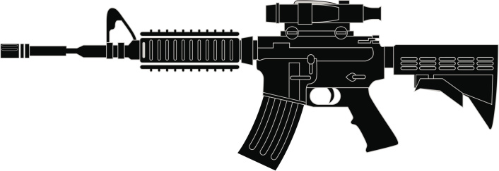 Rifle Clipart Vector.