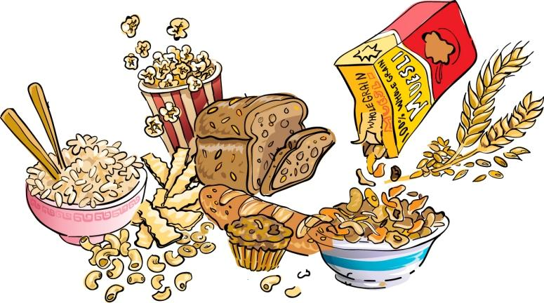 Carbohydrates Foods Clipart.