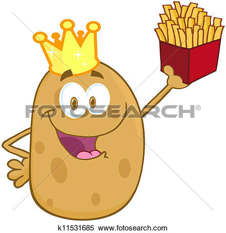 Clip Art of Cartoon french fries k15199006.