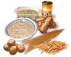 Food rich in carbohydrates clipart.