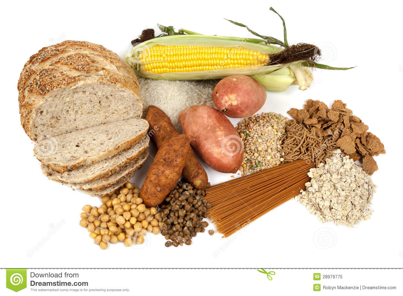 Complex Carbohydrates Clipart.
