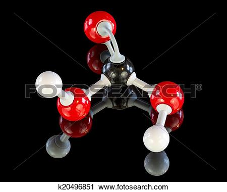 Stock Photography of Education model of a Carbonic Acid molecule.
