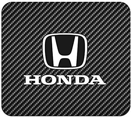 Honda Logo Black Carbon Fiber Texture Graphic PC Mouse Pad.