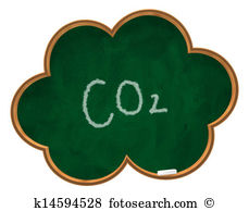 Carbon dioxide co2 molecule chemical structure Illustrations and.