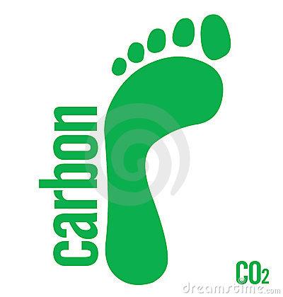 Carbon Footprint Free Clip Art.