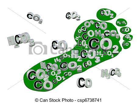 Carbon footprint Stock Illustration Images. 760 Carbon footprint.
