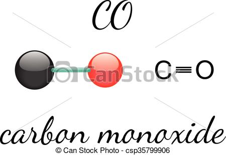 CO carbon monoxide molecule.