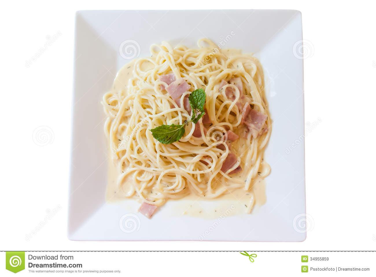 Spaghetti Carbonara Royalty Free Stock Images.