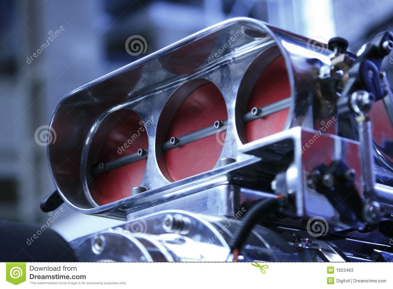Hot Rod Carburetor Stock Photos.