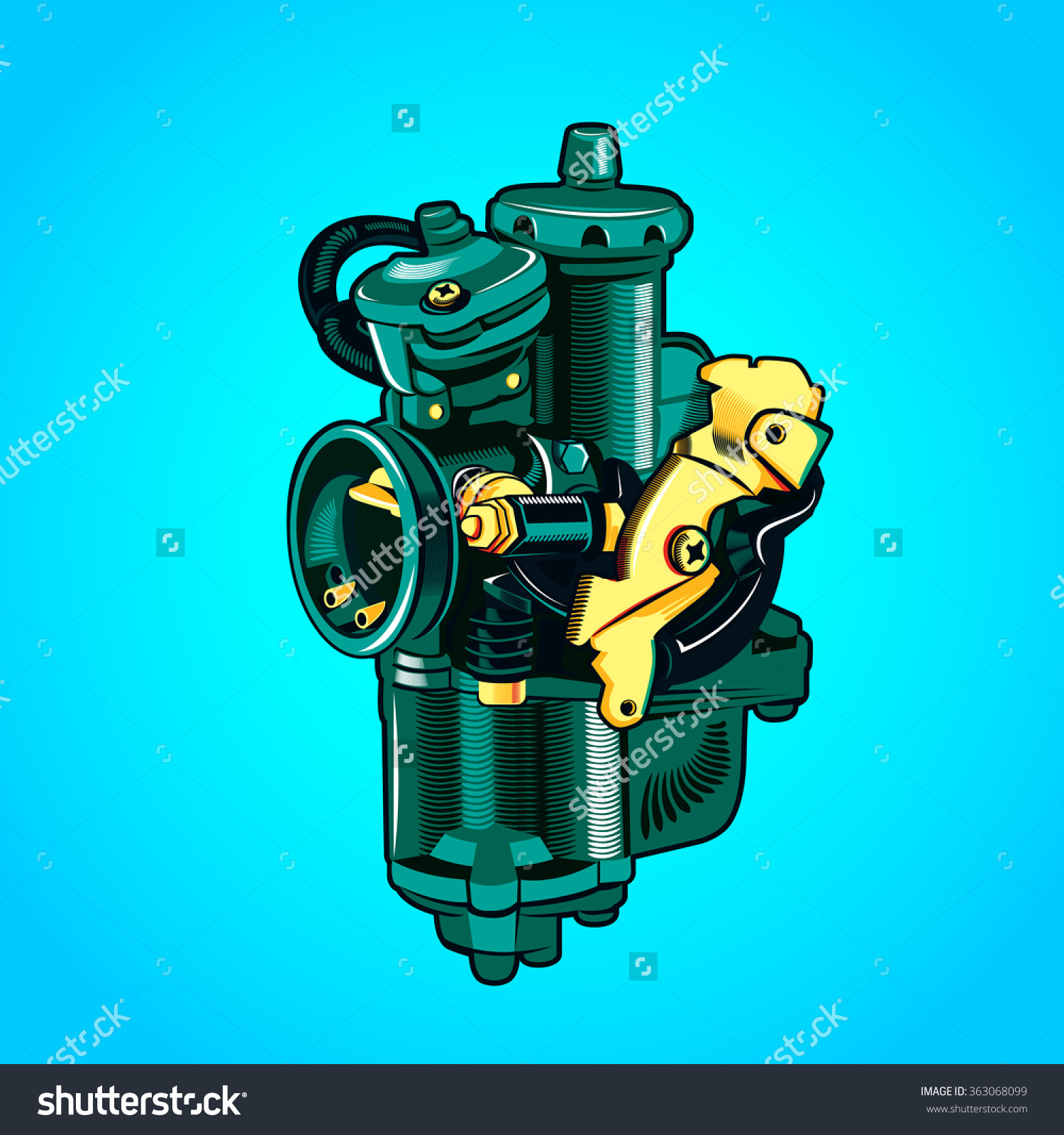 Carburetor Stock Vector 363068099.