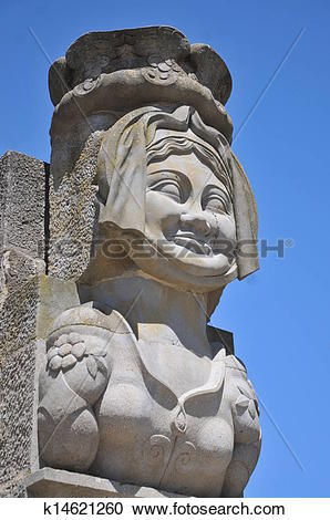 Stock Photography of Sculpture Of Madame Carcas k14621260.