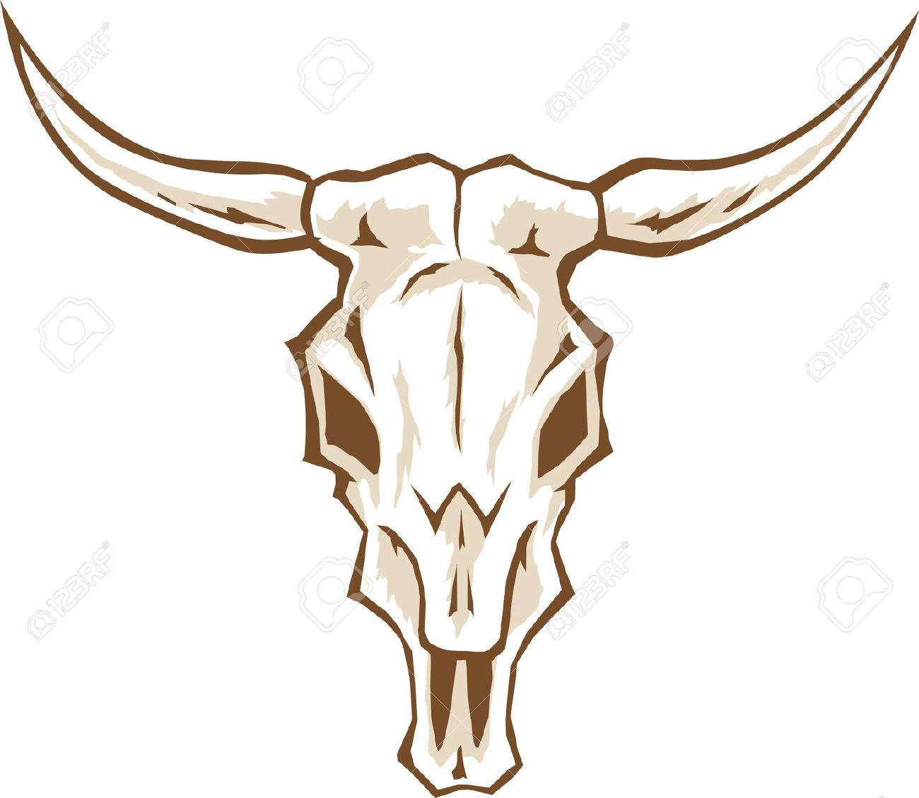 Bull Skull Royalty Free Cliparts, Vectors, And Stock Illustration.