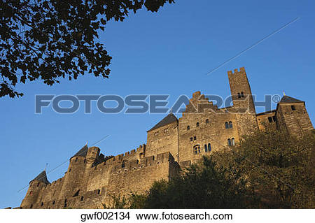 Stock Photo of France, View of Carcassonne gwf002134.
