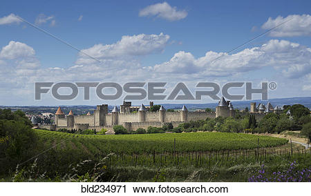 """Stock Photography of """"Medieval fortified city of Carcassonne."""