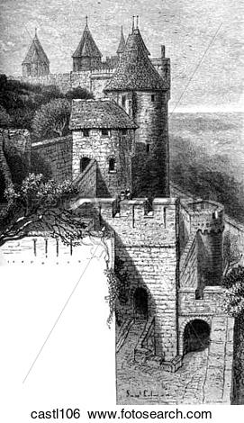 Stock Illustration of Towers of Visigoth and of the Inquisition.