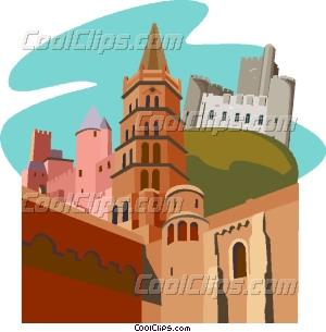 Roqueltaillade, La ville de Carcassonne Vector Clip art.