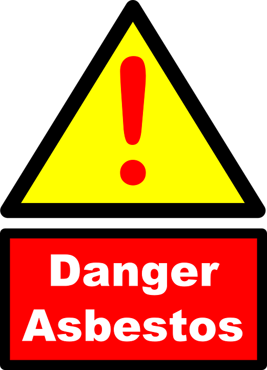 Free vector graphic: Asbestos, Danger, Warning.