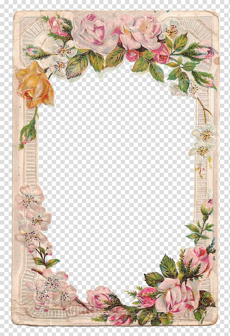 Borders and Frames Frames Rose Flower , vintage card.