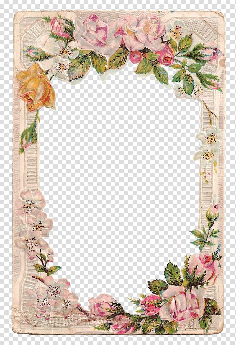 Borders and Frames Frames Rose Flower , vintage card.