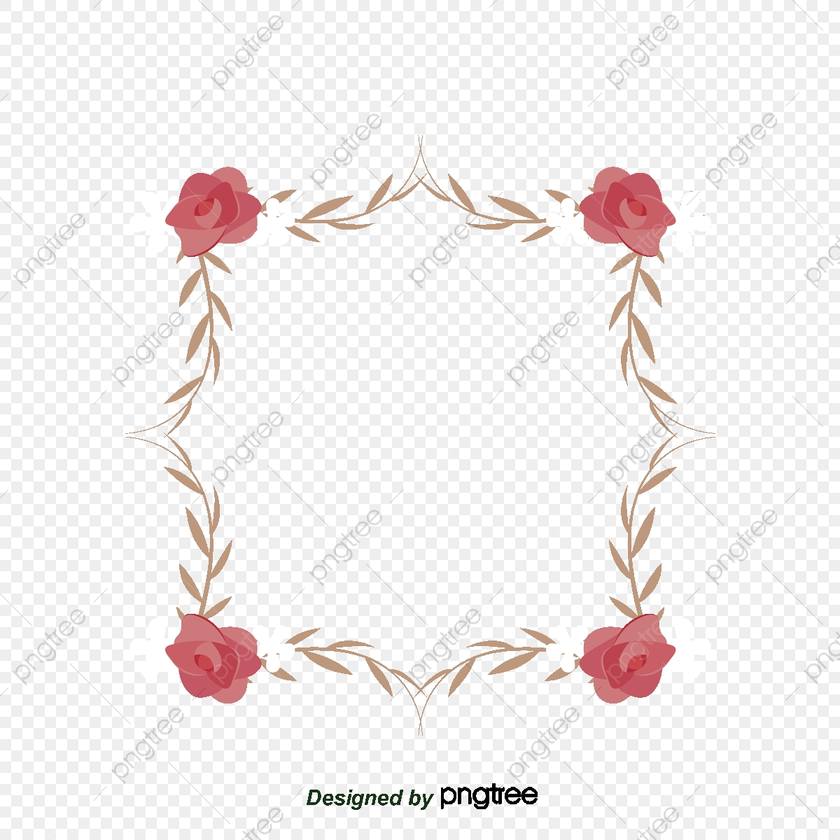 Cards Roses Letters Borders, Greeting Card Border, Flower Vine.