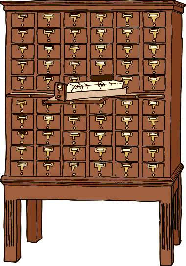 Free Library Card Catalog Clip Art.