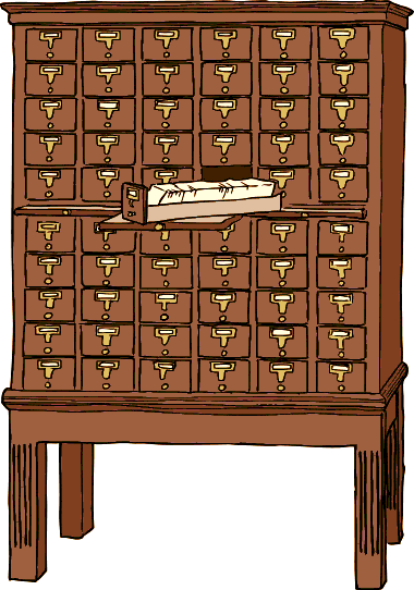 Card Catalog Clipart.