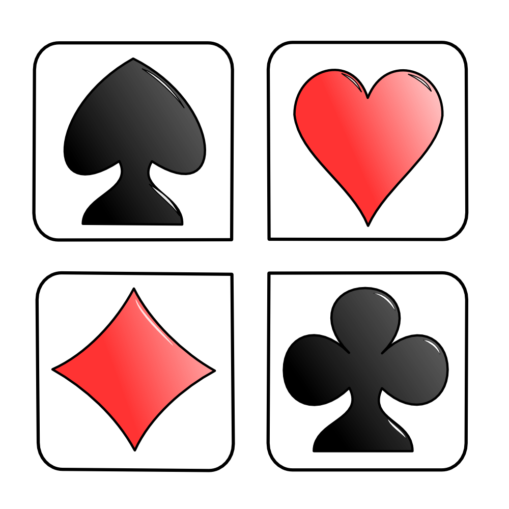 Card Suits Clipart.