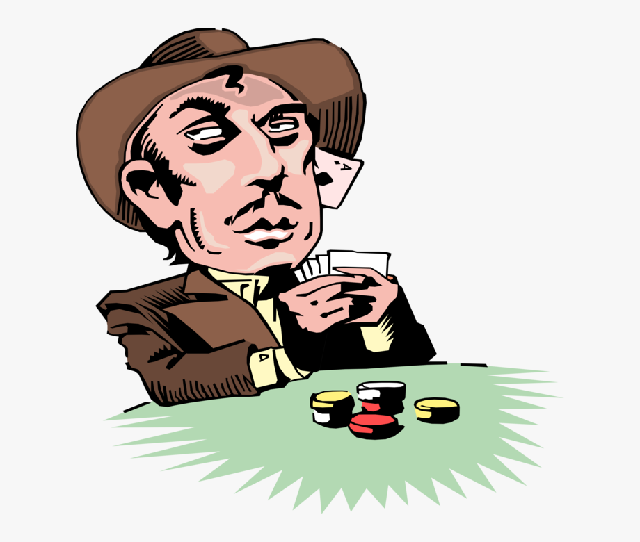 Vector Illustration Of Old West Gambling Gambler Poker.