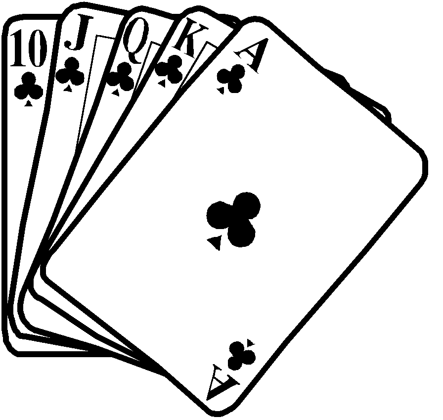 Playing Card Clipart Black And White.