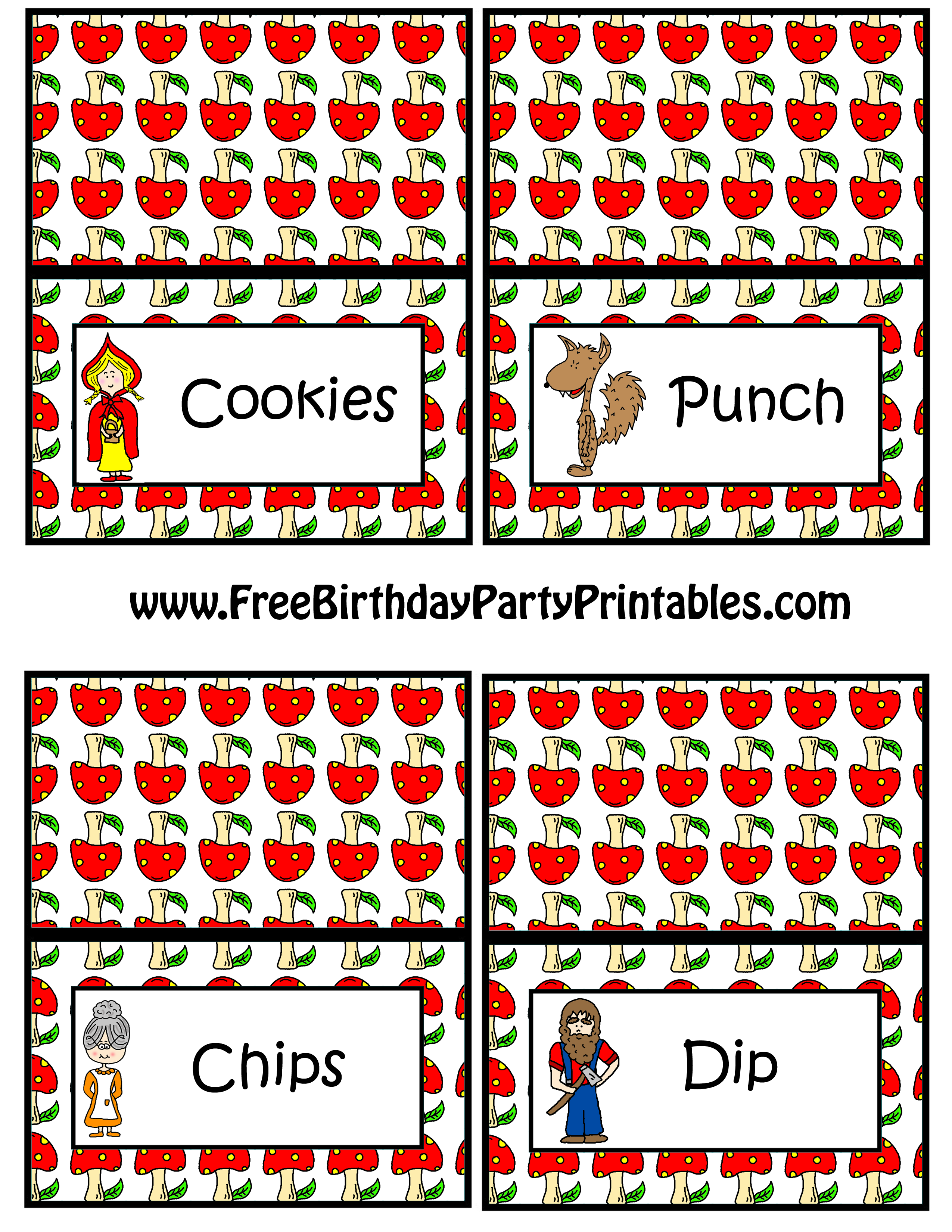 Food cards clipart.