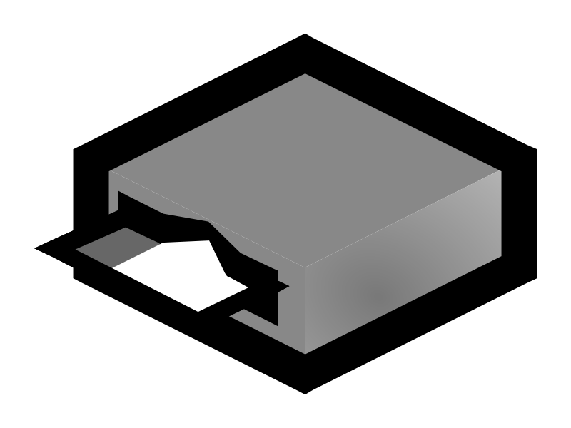 Free Clipart: Card reader 1.