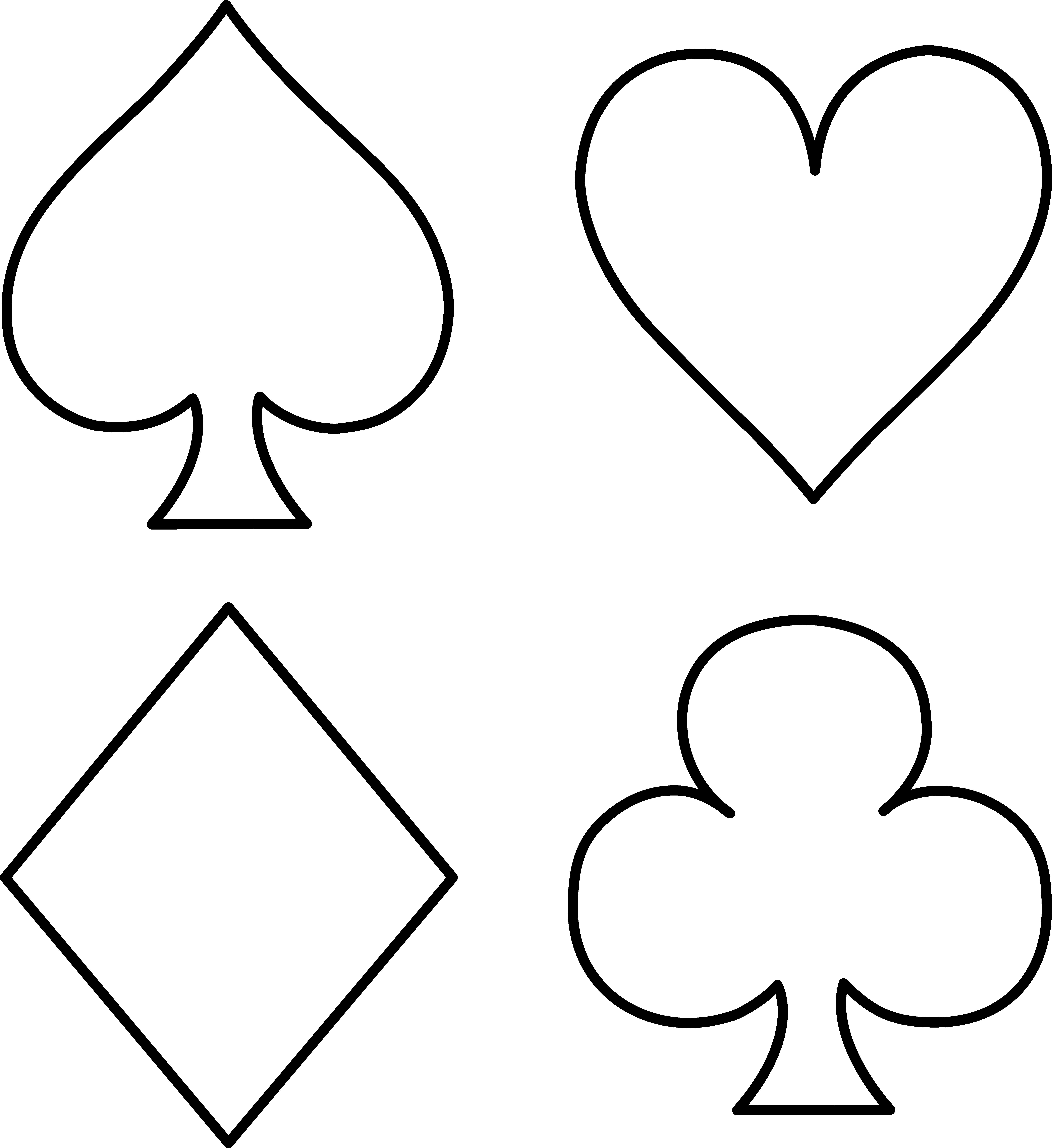 Free Deck Of Card Symbols, Download Free Clip Art, Free Clip.