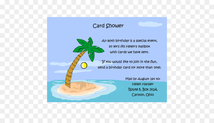 card shower clipart #4