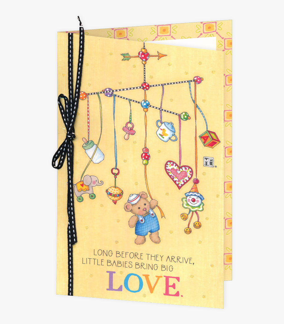Long Before They Arrive Baby Shower Card.