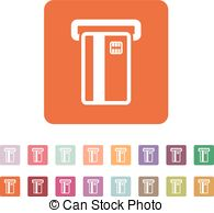 Vectors Illustration of Atm Icon atm card slot icon csp25986078.