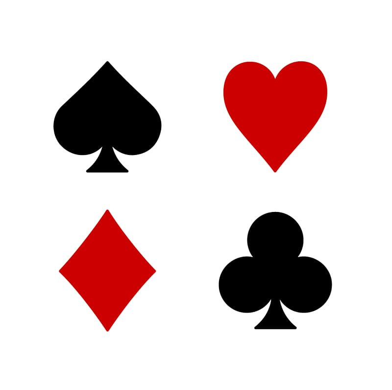 Playing card Suit Set Euchre , Heart Playing Cards.