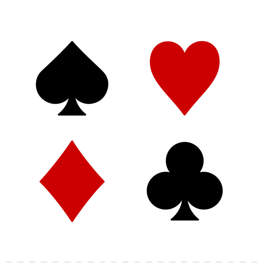 Playing card Suit Set Euchre Clip art.