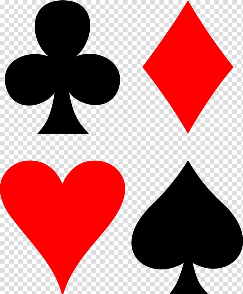 Assorted playing card symbols illustration, Set Suit Playing.