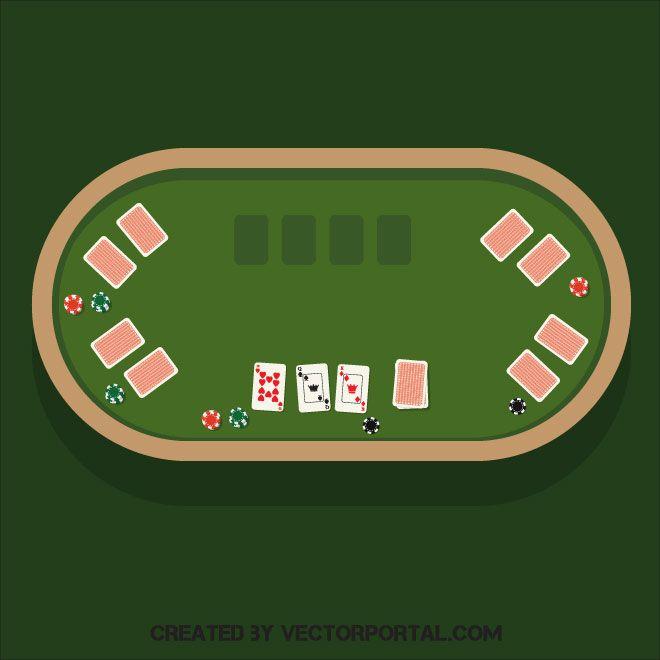 Poker table vector clip art in 2019.